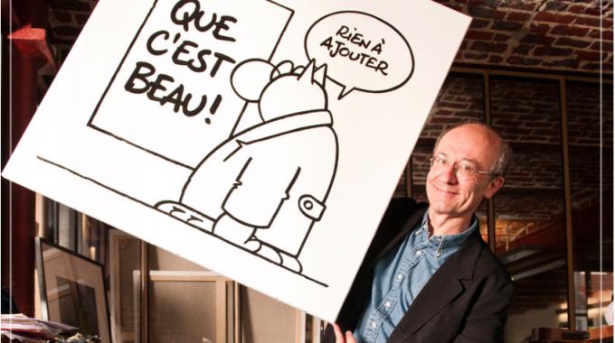 Phillippe Geluck présente L'art et le Chat au Musée en Herbe
