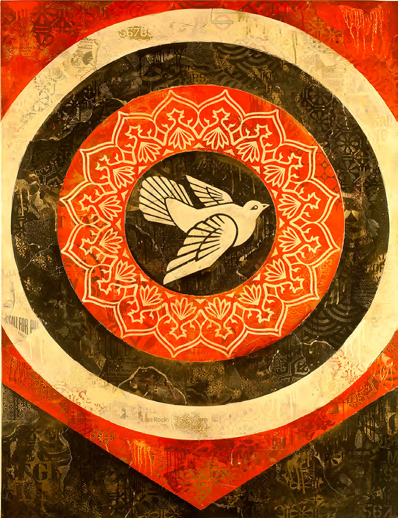 SHEPARD FAIREY, Doves (Black), 2012  © Claudia Victoria
