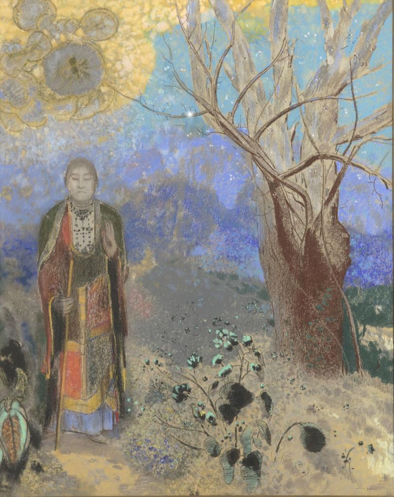 Odilon Redon Le Bouddha, 1906-1907 Pastel sur papier beige, 90 x 73 cm Paris, musée d'Orsay, RF 34555 © RMN-Grand Palais (musée d'Orsay) / Hervé Lewandowski Service presse / Musée d'Orsay