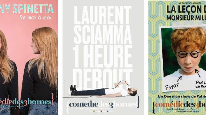Fanny Spinetta, Patrice Miller et Laurent Sciamma à la Comédie des 3 Bornes
