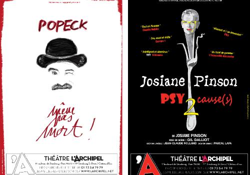 Popeck et Josiane Pinson au Théâtre de l'Archipel