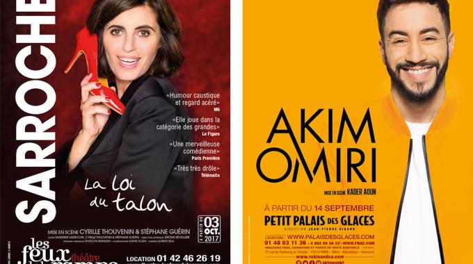 Les multiples vies de Sandrine Sarroche et Akim Omiri sur les planches