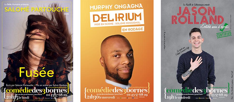 Salomé Partouche, Murphy Ongagna et Jason Rolland retournent la Comédie des 3 bornes