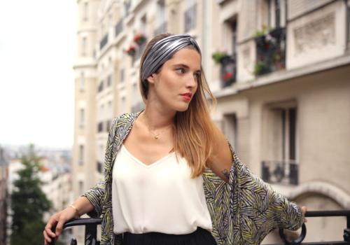 Laure Derrey : le headband bohème chic
