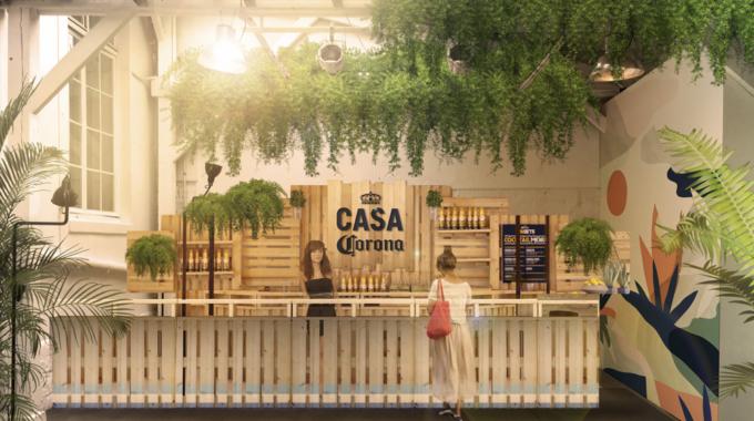 Le bar éphémère Casa Corona de retour à Paris