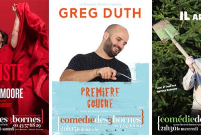 Olivia Moore, Greg Duth et Mathieu Vannson à la Comédie des 3 Bornes