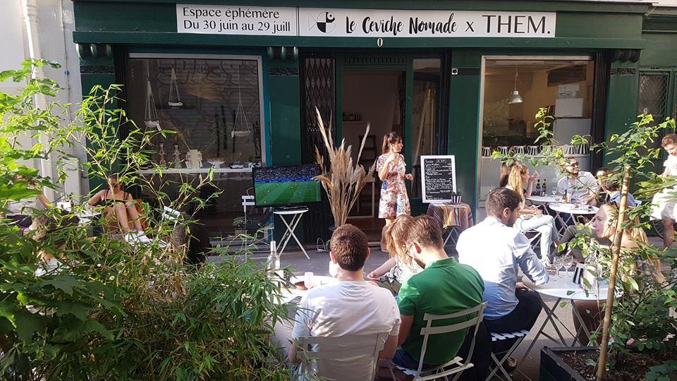 Le Ceviche Nomade et le concept store THEM ouvrent un restaurant éphémère