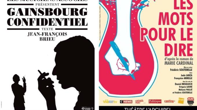 Théâtre de l'Archipel : Les Mots pour le dire et Gainsbourg Confidentiel