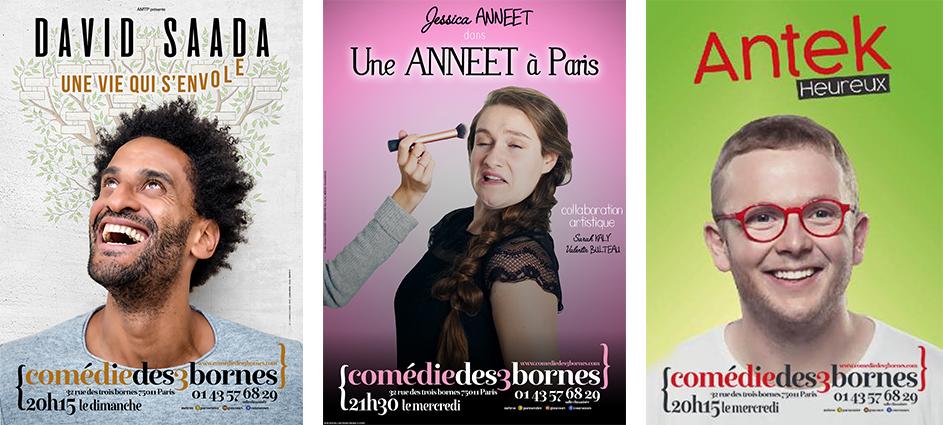 Jessica Anneet, David Saada et Antek à la Comédie des 3 bornes