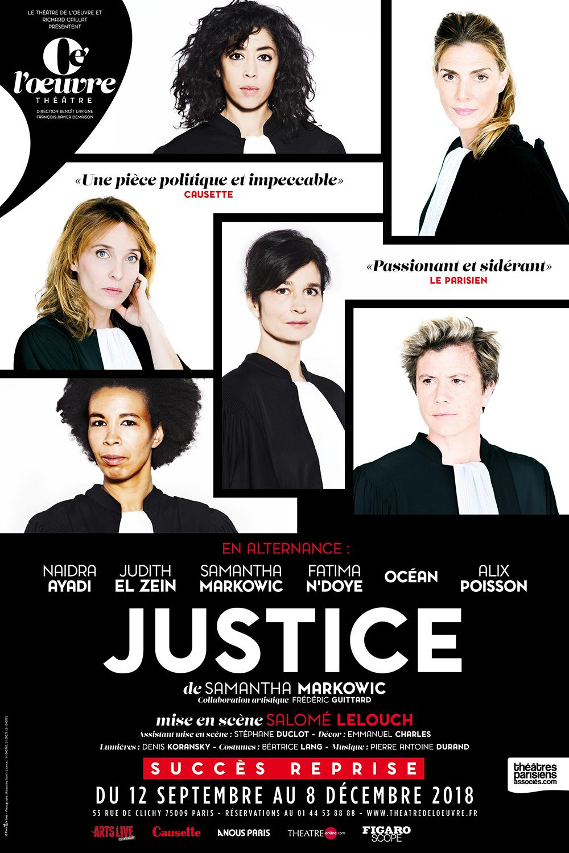 Justice au Théâtre de l'Oeuvre