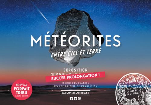 Une exposition sur les météorites au Muséum National d'Histoire Naturelle