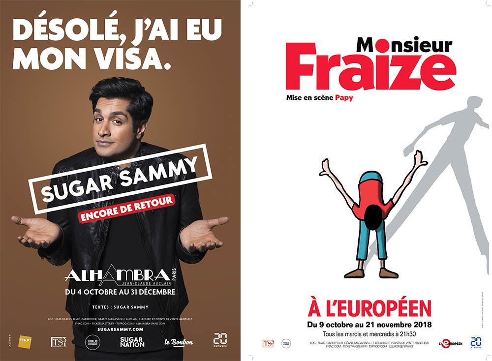Sugar Sammy et Monsieur Fraize sur les planches parisiennes