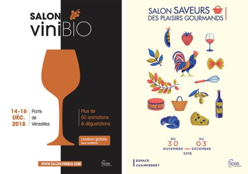 Deux salons spécial gourmets : Vinibio et Saveurs des plaisirs gourmands