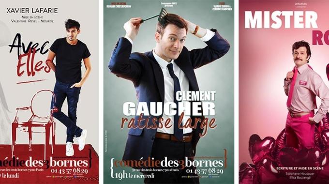 Xavier Lafarie, Clément Gaucher et Mister Roze à la Comédie des 3 Bornes