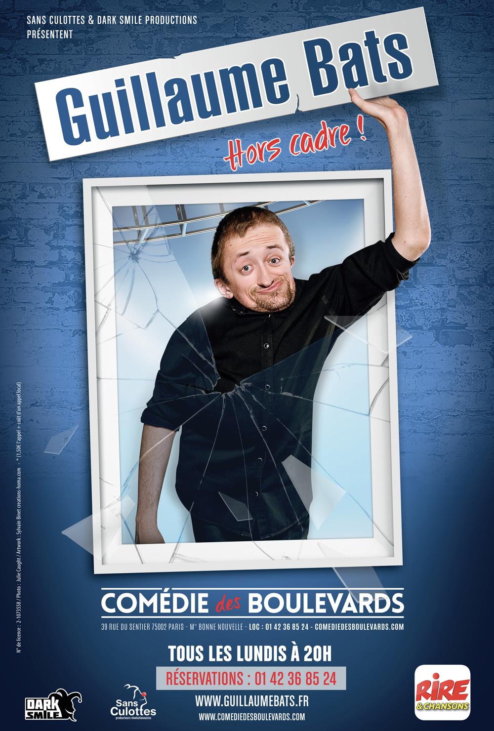 Guillaume Bats joue Hors Cadre à la Comédie des Boulevards