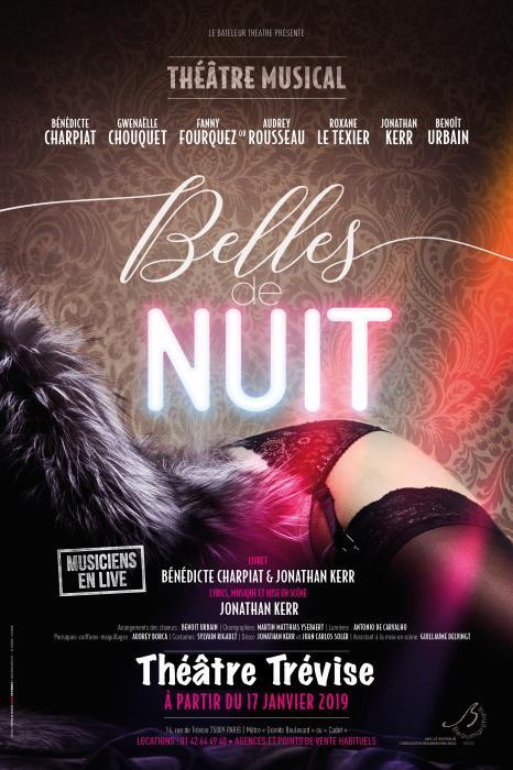 Le spectacle musical Belles de Nuit au théâtre Trévise