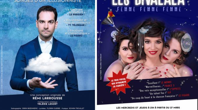 Illusionnisme et divas a cappella au Théâtre Lepic