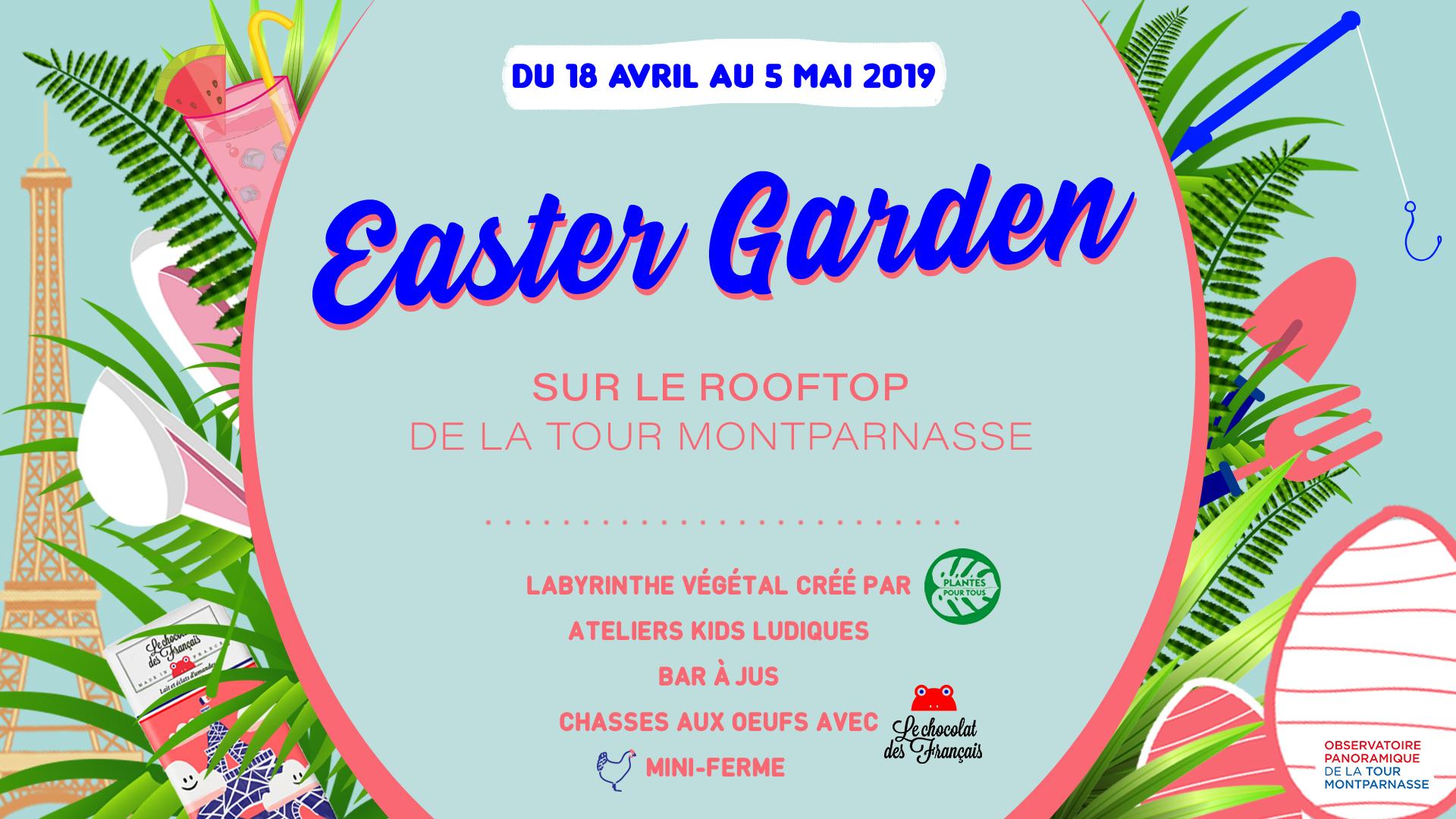 Easter Garden, le rooftop végétal éphémère de la Tour Montparnasse