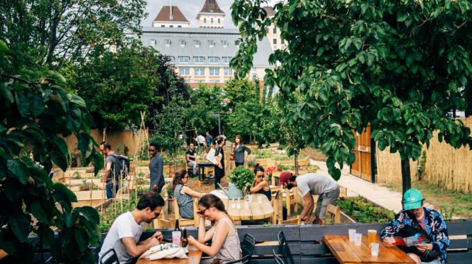 Jardin21 : bar, resto, live et potager au coeur de La Villette