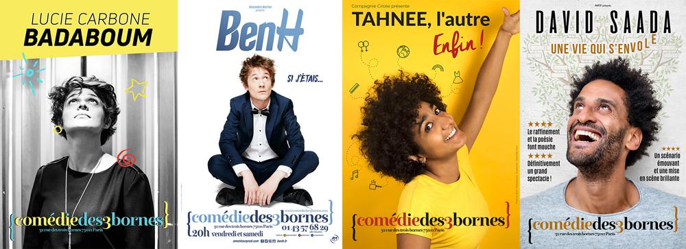 Comédie des 3 bornes : 4 spectacles aux questions existentielles