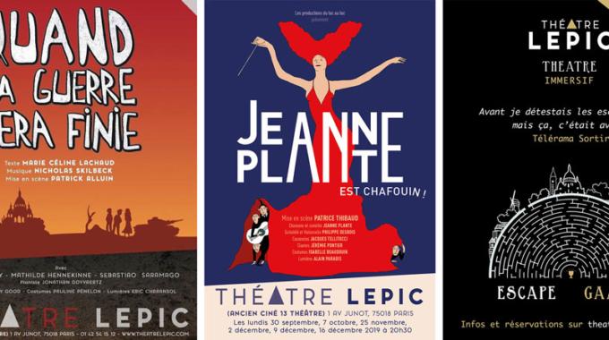 Théâtre Lepic: drame historique, concert chafouin et escape game
